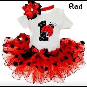Baby girl first birthday tutu set